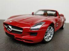 2011 MERCEDES BENZ SLS AMG ROADSTER 6.3 MET RED DIE CAST 1/18 BY MINICHAMPS NEW
