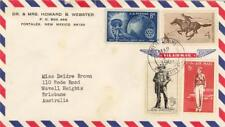 USA Commercial cover 4 stamps to AUSTRALIA 1964 Postmark Portales New Mexico