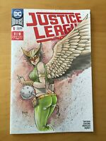 JUSTICE LEAGUE 1, NM (9.4 - 9.6) SEXY HAWKGIRL SKETCH VARIANT BY BRAVO, CGC IT