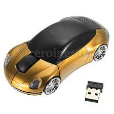 Mini Car Model 3D 2.4G Optical USB Wireless Mouse Mice 1600DPI For PC Laptop
