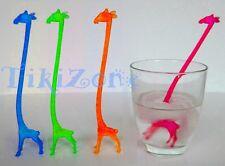 20 Giraffe Cocktail Drink Stirrers - Safari Jungle Swizzle Sticks - Baby Shower