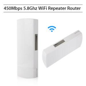 Wifi Repeater 5.8Ghz 450Mbps Long Range CPE AP Bridge Router Booster Extender AU