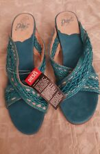 New diesels women's sandals with Heel turquoise size 10