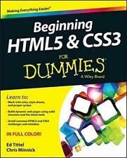 Beginning HTML5 and CSS3 For Dummies, Minnick, Chris, Tittel, Ed, Good Condition