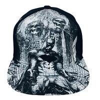Batman DC Comics Black White Comic Book Print Snapback Hat Trucker Cap
