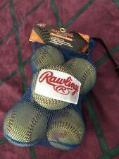 Rawlings .47 Cor Yellow Cover Softball Fast Pitch 6balls Tournament Grade