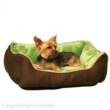 K&H Self-Warming Self Heating Dog Cat Pet Bed Lounge Sleeper Small Mocha Green