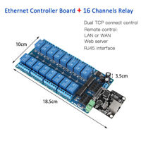 Ethernet Control Module LAN WAN Network WEB Server RJ45 Port 16 Channel Relay IS