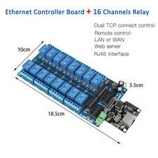 Ethernet Control Module LAN WAN Network WEB Server RJ45 Port 16 Channel Relay GD