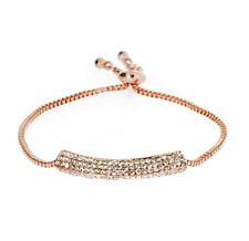 Rose Gold Sparkle Bar Adjustable Bracelet