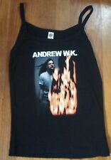 Andrew W.K. 2001 I Get Wet Fire Tank Top Juniors Size M/OS Graphic