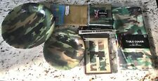 Camouflage Party Supplies Lot New Military Birthday