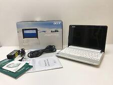 Netbook Acer Aspire One computer portatile bianco perla 8Gb SSD Wifi SIM Win xp