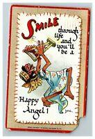 Smile, Happy Angel, a/s Dwig Tuck c1910 Postcard J10