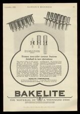 1926 Bakelite plastic resin contact buttons photo vintage print ad