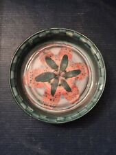 Signed DAVID SHARP POTTERY RYE 1960s - 1970s RETRO Wine Coaster Dish