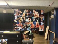 HUGE 44x31 TYSON FURY vinyl BANNER POSTER Mike Tyson Art GGG Muhammad Ali Box