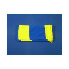 Royal Blue & Yellow Retro Bar Scarf Football Rugby Team Fan Supporter Unisex