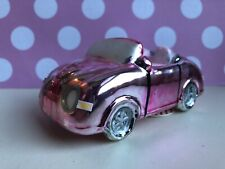 Pink Sports Car / Novelty Glass Christmas Tree Hanging Decoration Bauble