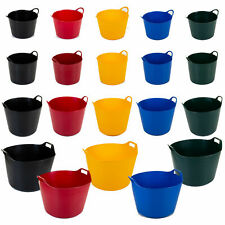 Flexi Tubs W/ Handle Builder Flexible Bucket Trug Construction Container Storage