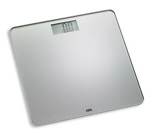 Ade BE 1513 Digitale Personenwaage Leevke Glas-Waage 180 kg LCD Step-On grau