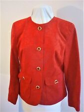 LADIES NEWw/TAGS RED 'SUEDE' JACKET SZ MED
