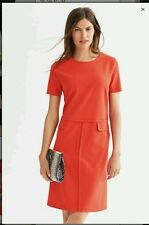 NEXT TAILORED SHORT SLEEVED  ORANGE  DRESS SIZE 12  NEW WITH TAGS