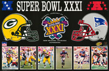 POSTER:NFL FOOTBALL: SUPERBOWL XXXI 1997 PACKERS vs PATRIOTS - FREE SHIP LW8 H