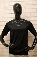 Maglia SAMMA Donna Taglia Size XS Maglietta Blusa Shirt Woman Filo Scozia Nero