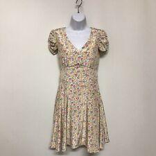 New Uttam Boutique Dress UK10 EU38 Short Sleeve Multicoloured Floral 220683