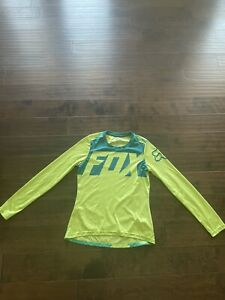 Fox Racing Womens Ripley Long Sleeve L/S Jersey Light Yellow Medium