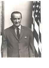 LBJ Lyndon B Johnson B&W 8x10 Photo & Signed Letter