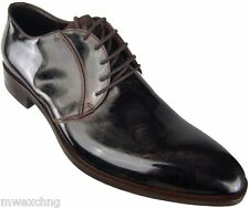 Authentic $790 Cesare Paciotti US 12 Brown Oxfords Italian Designer Shoes