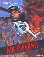 AIR INFERNO By TAITO 1990 ORIGINAL NOS VIDEO ARCADE GAME MACHINE SALES FLYER