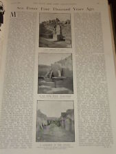 1901 ARTICLE SEA POWER 4 THOUSAND YEARS AGO MINOS CRETE