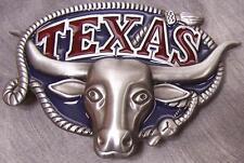 Pewter Belt Buckle Texas Longhorn  NEW