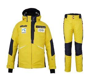 PHENIX NORWAY ALPINE TEAM Ski Jacket + Salopette Completo Uomo Sci ESA72OT00X GY