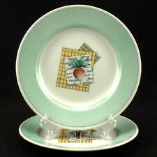 2 Churchill China Pier 1 VEGETABLE PATCH Salad Plates-Set of Two (loc-H18)