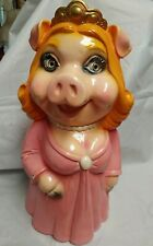 Rare Vintage Miss Piggy (Piggy Bank) Chalkware 1980 Atoz Productions