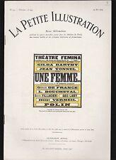 █ La petite illustration théâtrale N° 143 : Une femme par Edmond GUIRAUD 1925█