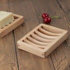 Bamboo Wood Soap Dish Holder Storage Drain Tray Plate Shower Bathroom Container