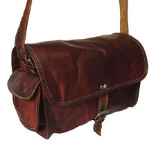 New Vintage Retro Handmade Leather Weekender Small Travelling Duffel Gym Bag 10""