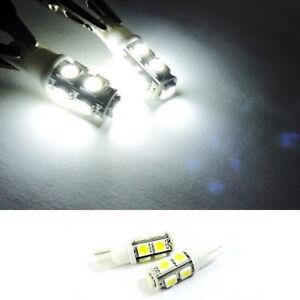 White High Power 9 SMD LED T10 For PONTIAC Rear Side Marker Light 168 194 Bulb