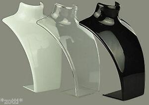 Jewelry Stand Jewelry Holder Bust Acrylic Presentation Jewelry