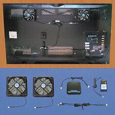 Plasma & Lcd Tv cooling fans with adjustable thermostat & multispeed control