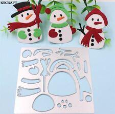 Cute Snowman Metal Cutting Dies for DIY Scrapbooking Card Making Kids Fun Craft