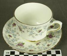Enchanting Royal Stafford Bone China Teacup Cup & Saucer Blue Purple Floral HH 2