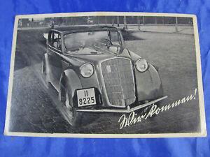 """PK AK Photokarte DKW II 8225 """"Wir Kommen"""" um 1930 Rarität ungelaufen"""