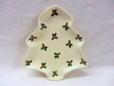"""Scattered holly spray 5"""" tree dish """"special offer"""""""