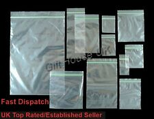 Small Clear Clear Bags Plastic Baggies Grip Self Seal Resealable Zip Lock B3